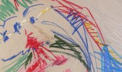 10 ubu roi 1, Pastellkreide, 1988, 70 x 50 cm