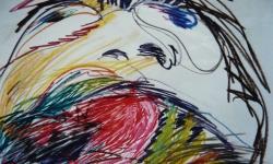 11 goliath, Pastellkreide, 1988, 70 x 50 cm