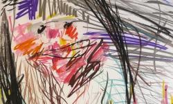 12 ubu roi 2, Pastellkreide, 1988, 70 x 50 cm