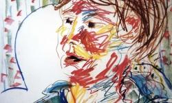 04 hh, 1988, Pastellkreide, 70 x 50 cm