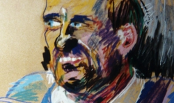 06 wk, 1988, Pastellkreide, 70 x 50 cm