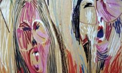 09 selbst hoch zwei, 1988, Pastellkreide auf Ingrespapier, 50 x 35 cm