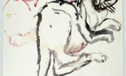 provokazz, skizze 05, 40 x 40 cm, 2005