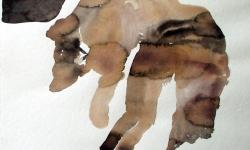 provokazz 02, 2005, Aquarell, 40 x 40 cm