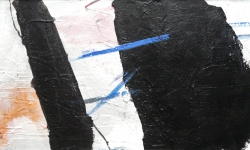 3 nero III, 2010 teil des Tryptichons, Acryl auf Holz, 20 x 40 cm