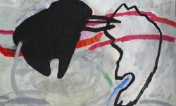 8 aussichtslos, 2013, Acryl auf Leinwand, 76 x 101 cm