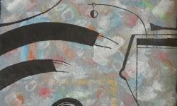 10 zugriff, 2018, Tusche auf aquarelliertem handgeschöpften Bütten, 25 x 33 cm