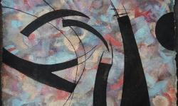 06 himmlische zerwürfnisse, 2017, Tusche auf aquarelliertem handgeschöpften Bütten, 25 x 33 cm