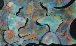 07 kommst du mit nach europa? 2018, Tusche auf aquarelliertem Japanpapier, 25 x 33 cm