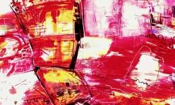 einstürzende rotbauten, 1990, Acryl auf Büttenkarton, 140 x 100 cm
