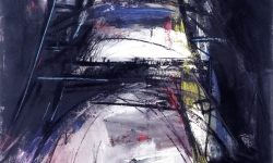 construction II, 1991, Acryl auf Büttenkarton, 140 x 100 cm