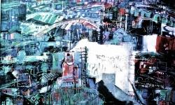 paris bicentennaire, 1989, Acryl auf Büttenkarton, 100 x 140 cm