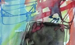 4  im innern der ränder, 1998, Aquarell, 70 x 50 cm