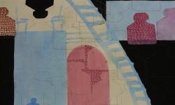 2 fliegengewicht, 2014, Mischtechnik Acryl/Aquarell auf Bütten, 35 x 50 cm