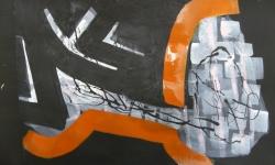 4 styroporgewicht, 2014, Mischtechnik Acryl/Aquarell auf Bütten, 35 x 50 cm