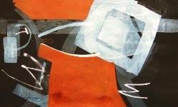 6 gewichtlos, 2014, Mischtechnik Acryl/Aquarell auf Bütten, 35 x 50 cm