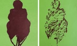 1 schöne dicke dame 01 + 02, 2010, 21 x 15 cm, Aquarell