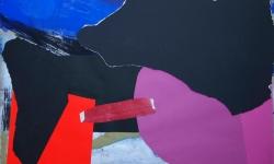 9 bridge over troubled water, 2008-12, Collage auf Pappe, aufgezogen auf Holz, 50 x 70 cm