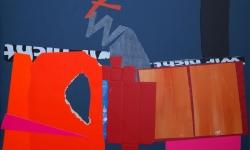 4 nach dem tornado, 2008-12, Collage auf Pappe, aufgezogen auf Holz, 50 x 70 cm
