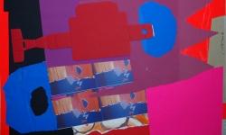 7 peepshow, 2008-12, Collage auf Pappe, aufgezogen auf Holz, 50 x 70 cm
