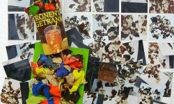 triumph des zitronentees, 2006, 45 x 30 cm, Müllassemblage aus der Reihe Transitorische Projekte