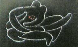 amour fou, 2000, Kreide auf Karton, 15 x 21 cm