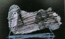 copulation, 2000, Kreide auf Karton, 15 x 15 cm