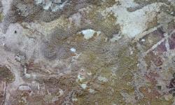 chinini 3, 2010, Aquarell/Leim/Sand, Bütten auf Leinwand kaschiert, 20 x 20 cm