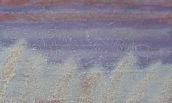 chinini 4, 2010, Aquarell/Leim/Sand, Bütten auf Leinwand kaschiert, 20 x 20 cm