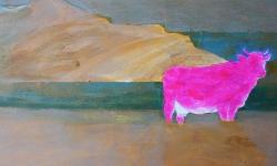 milch! 2010, Acryl/Sand auf Leinwand, 70 x 80 cm