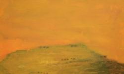 besslemaa, 2010, Acryl/Sand auf Leinwand, 70 x 80 cm