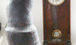 2 zeitröhre, 2006, Skulptur, Seitenansicht, Terracota mit Engobe behandelt, Höhe 173 cm