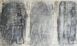 5 zeitröhre, 2006, Zeichnung auf Papier (Ausschnitt links), 65 x 255 cm