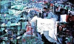 Paris bicentennaire, Acryl auf Leinwand, 1990
